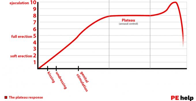 Gráfico de resposta da excitação do platô